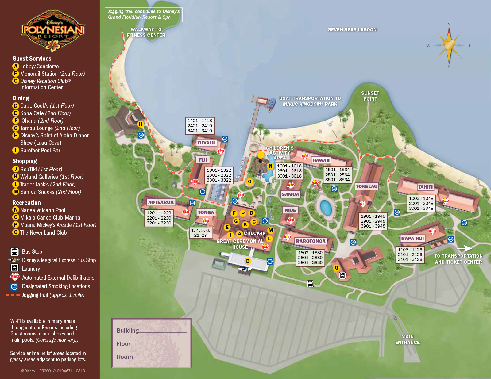 map polynesian resort by jennifer marx resort photo of the